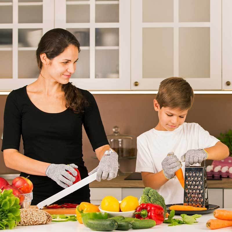 NoCry Cut Resistant Gloves For Kids for food preparation with family