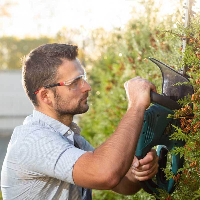 NoCry Safety Glasses for trimming hedge and grass