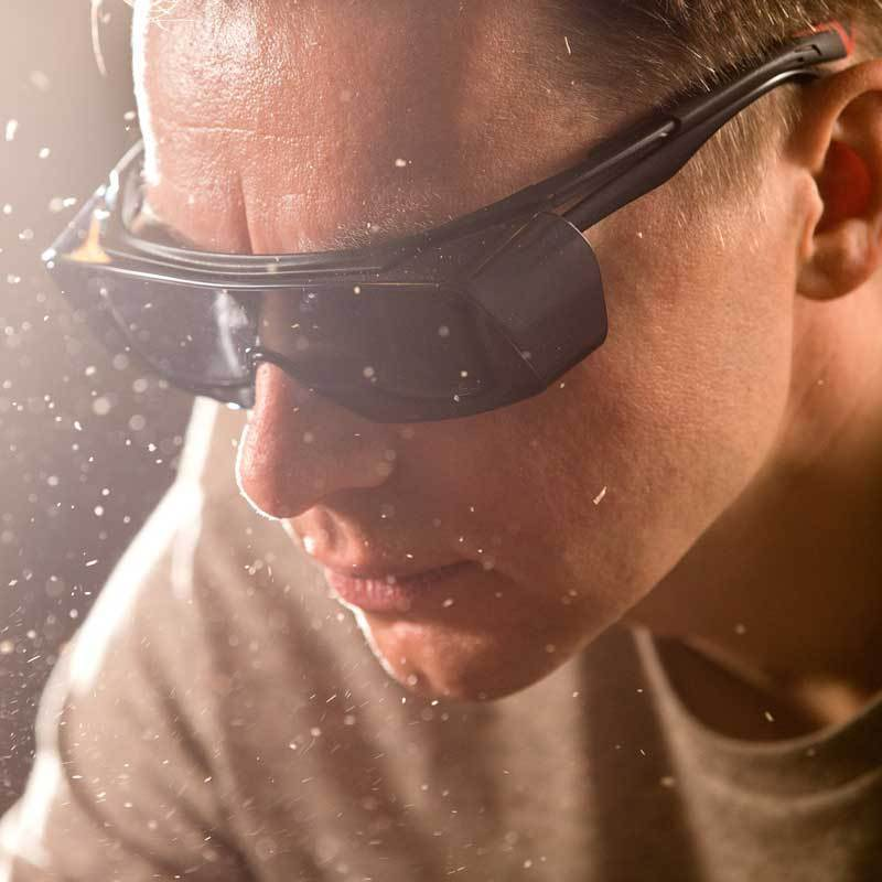 NoCry Over-Glasses Safety Sunglasses for sawing
