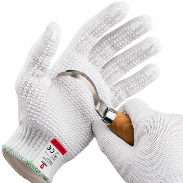 Cut Resistant Work Gloves With Grip Dots